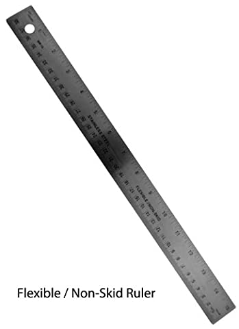 Precise Artist's Ruler 15 Stainless Steel with Cork Backing : ( Rulers ) by ToolUSA