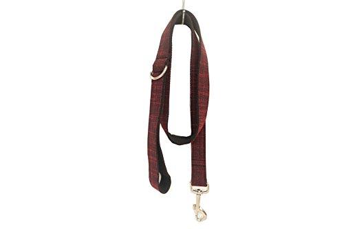 PENIVO Haustier Hundeleine, 110 cm x 2cm, roter Anzug, klein / mittel, Führungen für Hunde, passender Kragen separat erhältlich