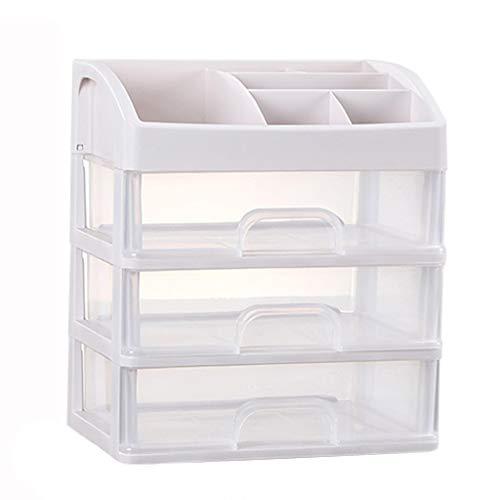 KKY-ENTER Boîte de rangement en plastique simple cosmétique Transparent Type de tiroir Rouge à lèvres Bijoux Produits de soins de la peau Boîte de stockage Affichage (taille : 23.3 * 17 * 26.8cm)