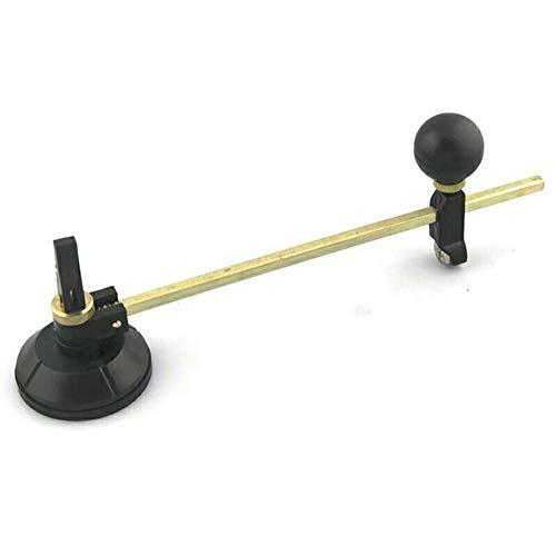 housesweet Kompass Heavy Duty Runde Glasschneider mit Saugnapf verstellbar Diamant Glas Cutter Werkzeug