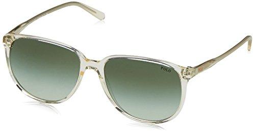 Polo Ralph Lauren Damen 0Ph4097 50348E 54 Sonnenbrille, Grau (Vintage Grey Pinot/Green),