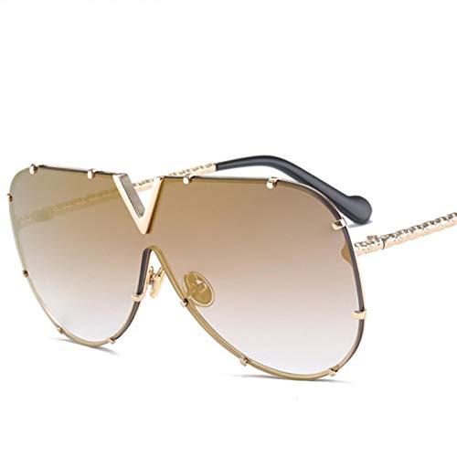Shihuam Luxury Übergroße Aviation Sonnenbrille Frauen Uv400 Retro Er Big Frame Sonnenbrille Für Weibliche Damen Brillen,c3