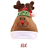 heling896 Sombreros de Navidad con Bobble Papá Noel Reno Muñeco de Nieve Patrón de Oso Sombreros Favores de Fiesta para Adultos y niños