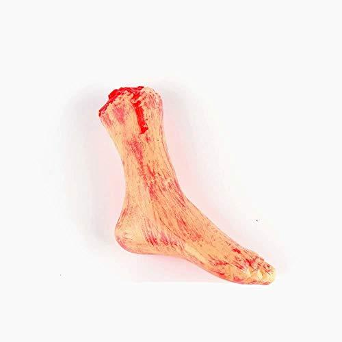 (Snner Horror Blutige realistisch gefälschter Severed Arm gebrochen Hand Beine Fuß Körperteile Streich-Trick-Aprilscherz-Halloween-Party Props (gebrochener Fuß) 1 PC)