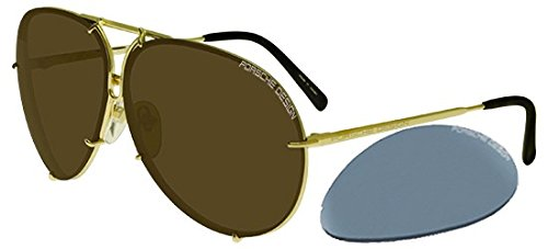 Porsche design occhiali da sole p8478 light gold/brown light blue silver unisex
