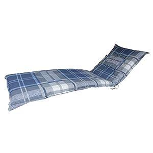 Madison Luxus Rollliegenauflage A 030″, blau grau Taupe kariert, 200 x 65 x 8 cm