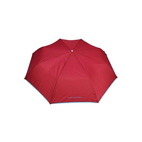 Mini ombrello automatico apri/chiudi con manico foderato in pelle, Piquadro