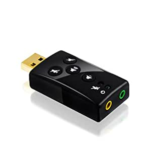 CSL - USB 7.1 Soundkarte extern | Dynamic 3D Surround Sound | inkl. Funktionstasten