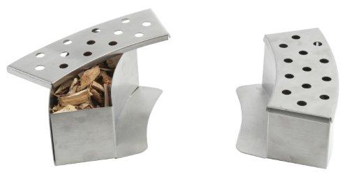 Pizzacraft Räucherbox-Set 2-teilig, Edelstahl, silber, 5.97 x 18.16 x 22.23 cm, PC0411