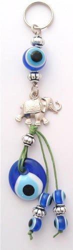 Mal de ojo decoración del coche/clave cadena con elefante