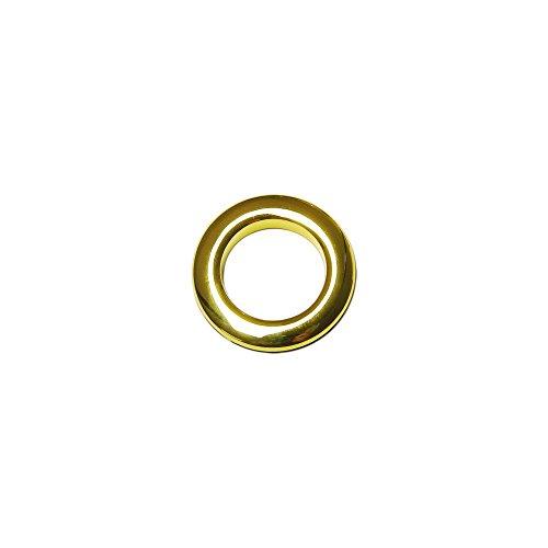 Oeillets à Clipser pour Rideaux Coloris Or Brillant - diamètre 28 mm - Lot de 8