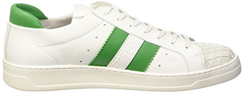 Bikkembergs Bounce 588 L.Shoe M Leather, Chaussures Basses Homme Blanc Cassé (White/Green)