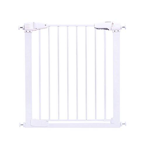 Hoher Baby-Tor-Wand-Schutz Für Hunde- U. Haustier-Tore Vervollkommnen Sie In Den Tür-Cups Schützen Sie U. Schützen Sie Wände Vor Kind-Kind-Sicherheits-Druck-Toren - Weiß (größe : 77-83cm) -