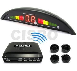 Red wireless parcheggio auto quattro 4sensori posteriori con display a led