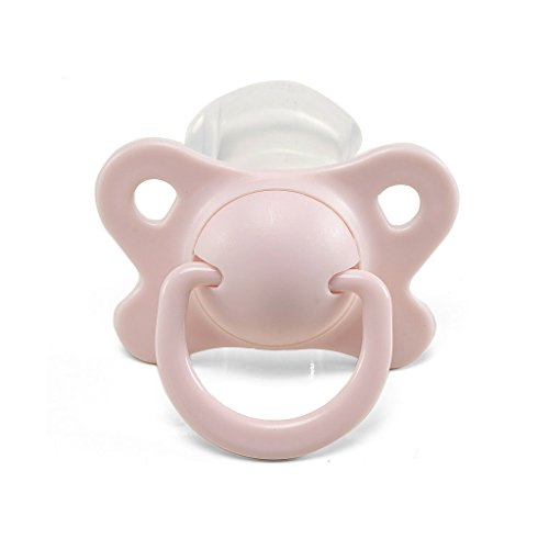 LittleForBig Erwachsene Größe Schnuller/Dummy für Erwachsene Baby ABDL-Schmetterlings Kuss Binky Rosa