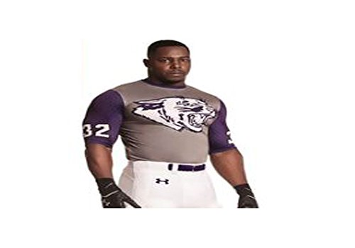 Under Armour Kansas State Wildcats Football Uniform Jersey Compression Shirt groß
