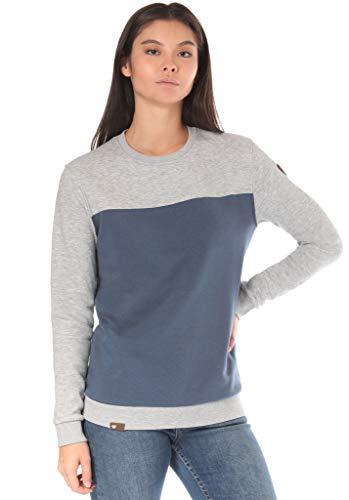 Lakeville Mountain Damen-Pullover Uelle Colorblock, Fleece-Sweatshirt, T-Shirt, Damen-Pulli, Sewater für Frauen, Dark Denim Dunkel-Blau, M