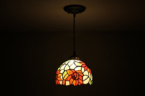 Gweat Tiffany Pastoral Rustic Modern 8-inch Tiffany Ceiling Lamp Stained glass Tiffany Pendant Lamp NEW Sunflower Design