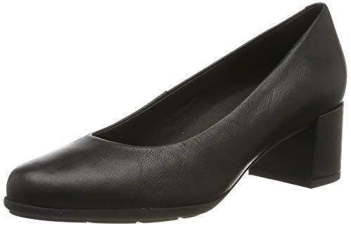 Geox D New ANNYA Mid A, Zapatos con Tacón para Mujer, Negro Black C9997, 42 EU