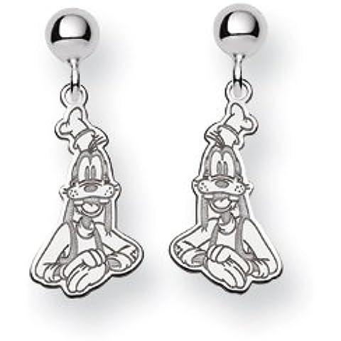 Sterling Silver Disney Pippo Dangle Post Orecchini
