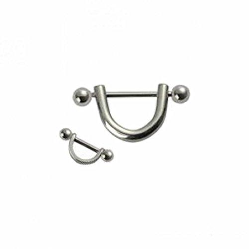 Stahl - Ohrpiercing (Piercing Schmuck für Helix Tragus Cartilage Conch silber)