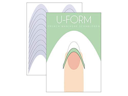 40 x FRENCH Maniküre SCHABLONE U-Form - French Nail - French Nagel-Sticker - French Linie - Smile Line