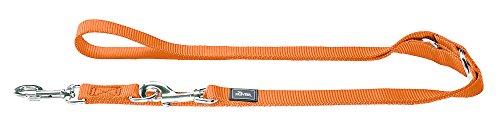 Orange-nappa Leder (HUNTER Verstellbare Hundeführleine 1,0/200 cm, Nylon, orange)