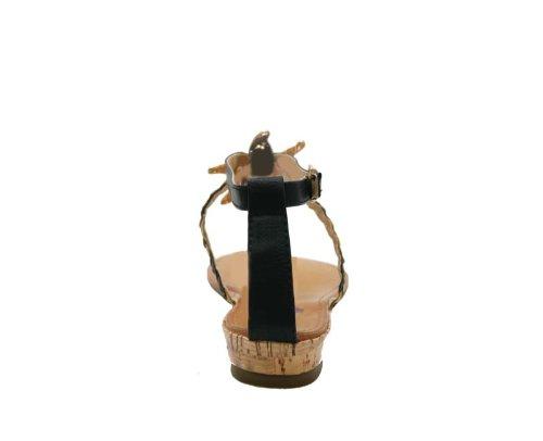 sandali JustGlam c Scarpe marina stella Nero ecopelle basso Donna tacco Infradito qBwpEx1B