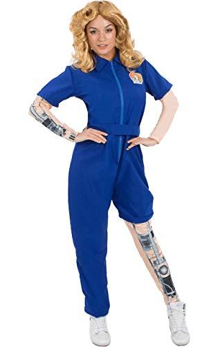 Meine Damen Bionic Frau Mechanische Superheld Kostüm Verkleidung Large