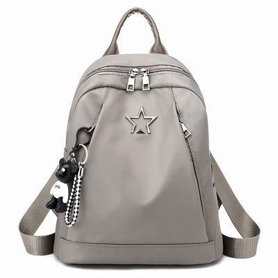 Fyyzg Damen kleiner Rucksack Umhängetasche 2018 Wild Fashion Oxford Stofftasche Damen, grau