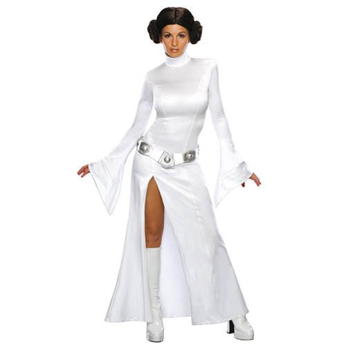 PARTY DISCOUNT Damen Kostüm: Prinzessin Leia - Star Wars 3-teilig - ()