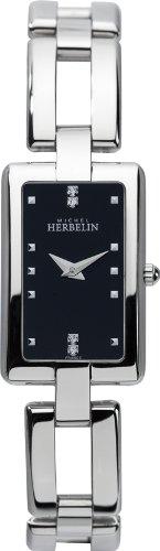 Michel Herbelin 17466/B54 - Reloj analógico de cuarzo para mujer, correa de acero inoxidable color plateado
