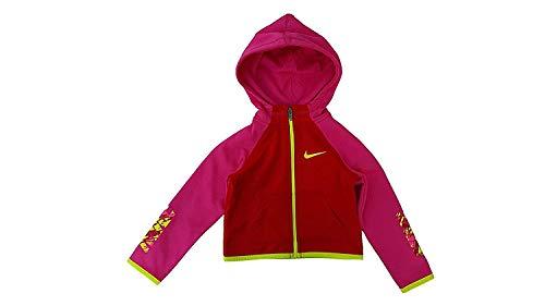 Toddler Full Zip Hoodie (Nike Toddler Girl's Thermal Full Zip Hoodie (3T, University Red/Yellow/Pink))