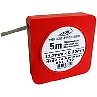 HELIOS-PREISSER Fühlerlehrenband 5 m x 13 mm, inklusive Plastikdose 0,20 mm, 0611520