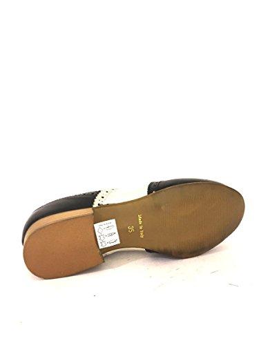 Scarpe Francesine con impunture RM-43 in pelle bicolore MainApps Nero