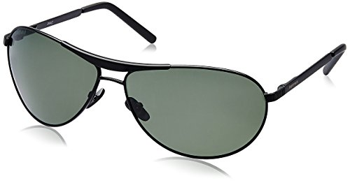 Fastrack Black Aviator Sunglasses (Black) (M062GR2) image
