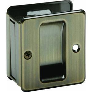 Schlage 990 1-3/4-Inch x 2-1/4-Inch Sliding Pocket Door Pull Sliding, Antique Brass by Schlage Lock Company