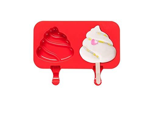 OVVO Nette Fackel geformt Silikon EIS Lolly Formen Gefrorene EIS-Werkzeuge (rot) Formen Kuchen Dekorieren Tools