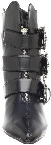 Demonia Fury-06, Bottes Classics courtes, non doublées femme Noir (Blk Nappa Vegan Leather)