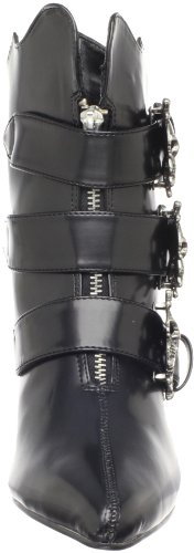 Demonia Fury-06, Stivaletti Donna Nero (Blk Nappa Vegan Leather)