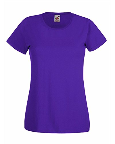 Fruit of the Loom - T-shirt - Femme Violet - Violet