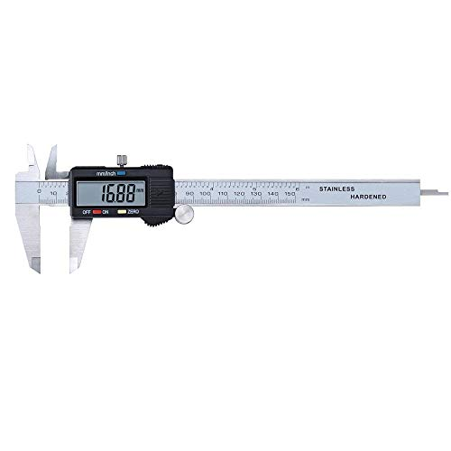 "Digitale Nonius-Messschieber Skalenmessschieber 150Mm / 6""Metall Lcd Elektronische Digitalanzeige Edelstahl Messschieber 150Mm 6 Zoll Mikrometer Gauge Micrometer"