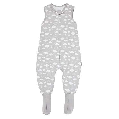 TupTam Baby Winter Schlafsack mit Beinen und Füßen, Farbe: Wolken Grau, Größe: 104-110
