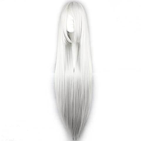 Lolita 100CM Straight Long Black/White/Blonde/Red/Pink Cosplay Fashion Party ...