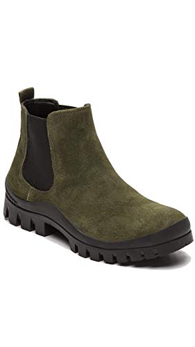 Calvin Klein Jeans Hugo Chelsea Boots S0408, Grün - Military - Größe: 46 EU (Calvin Klein Stiefel Männer)