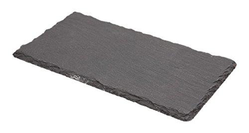 Genware NEV-SLTN-2011 Natural Edge Slate Platter, 20 cm x 11 cm Test