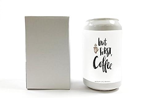 Tirelire Publicité Cuisine mais la première tasse de café imprimées céramique