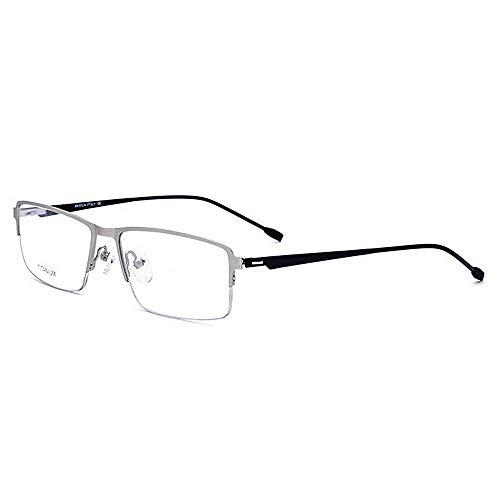Peggy Gu Leichte Titanlegierungs-Azetat-Faser Halb-Randlose quadratische Form-Flexible Geschäfts-Glasrahmen-Brillen mit klarer Linse