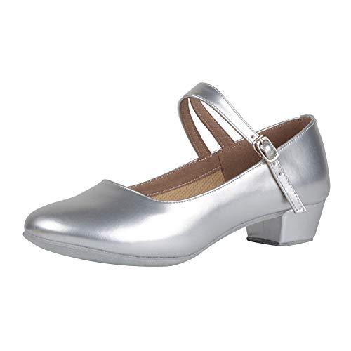 Yudesun elegante sportive scarpe da ballo donna - bambina pelle latino sala da ballo scarpe mezzo tacco fibbia sandali comode standard tango samba salsa balli jazz moderno ballroom casual