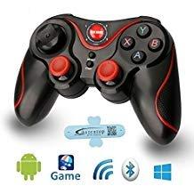 A-szcxtop S3 Bluetooth Gamepad kabellos wiederaufladbar Spiele-Controller Unterstützung für Smartphone, Pad, TV, TV-Box mit Android-Plattform 3.2 und höher (Plattform-box)